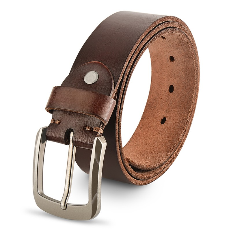 Genuine Leather Belts For Men, Fashion Men Belt For Jeans, With Buckle
