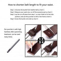 shorten leather belt