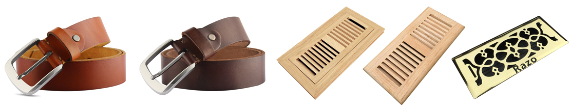 Razo leather belts and floor registers
